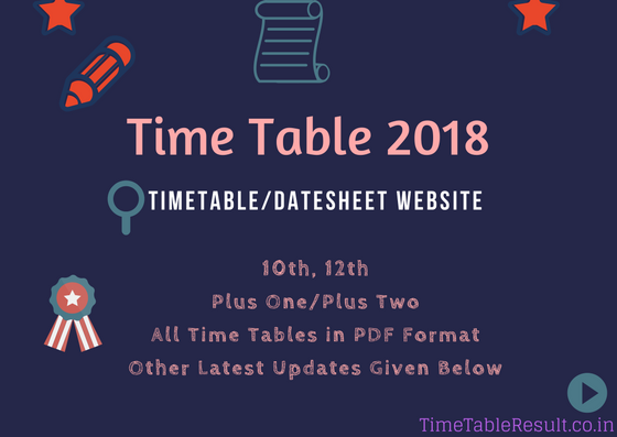 Time Table 2018