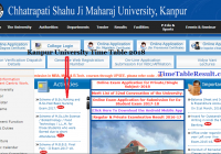 Kanpur University Time Table 2018