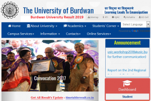Burdwan University Result 2019