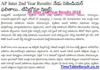 AP Inter 2nd Year Results 2018