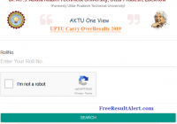 UPTU Carry Over Result 2019