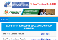 AP Inter Vocational Results 2020